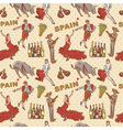 spain seamless repeating pattern vector image vector image