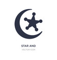 star and crescent moon icon on white background vector image vector image