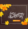 thanksgiving sale banner with hand vector image