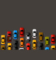 traffic jam on the road road transport highway vector image vector image