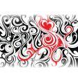 tribal swirl background vector image vector image