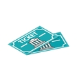 Two museum tickets icon isometric 3d style vector image vector image