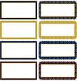 vector ornate decorative frame set vector image vector image