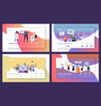 voting elections landing page template set vector image vector image