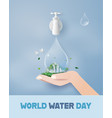 wolrd water day with family vector image vector image