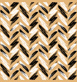 zigzag pattern seamless background gold vector image