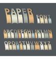 Vintage paper font vector image