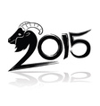 2015 merry christmas and happy new year goat vector image