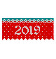 2019 head banner for greeting cards vector image
