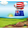 A floating balloon with the flag of Australia vector image vector image