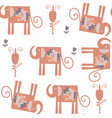 abstract elephants nature fauna seamless pattern vector image vector image