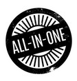 all-in-one rubber stamp vector image vector image