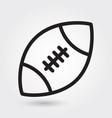 american football icon sports ball symbol modern vector image vector image