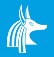 Ancient egyptian god anubis icon white vector image