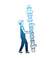 auto mechanic with connecting rod spare part vector image vector image