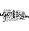 basic home loan terms explained text word cloud vector image vector image