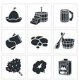 Bath Accessories Icons Set vector image vector image