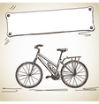 bicycle with banner vector image