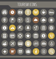 big tourism icon set trendy line icons collection vector image vector image