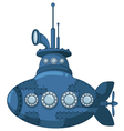 blue submarine for you design vector image