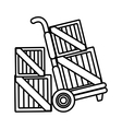 box wooden packing icon vector image