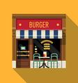 Burger Restaurant Shopfront Icon vector image vector image