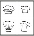 chef hats monochrome minimalistic sketches set vector image vector image