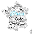 Cities of France word cloud vector image