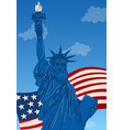 close up statue liberty new york city vector image