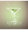 Cocktail background with martini glass vector image vector image