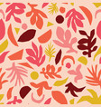 collage contemporary floral pattern vector image vector image