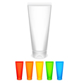 Color tubes of cream vector image vector image