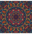 colorful floral ethnic tribal pattern vector image vector image