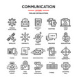 communicationsocial media and online chatting vector image vector image