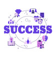 concept business success business vector image vector image