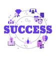 concept business success concept business vector image