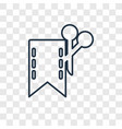 coupon concept linear icon isolated on vector image