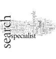do you need a search specialist vector image vector image