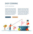 easy cooking landing page vector image vector image