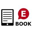 eBook symbol vector image vector image