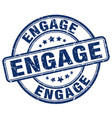 engage blue grunge stamp vector image vector image