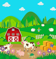 Farm animals living in the farm vector image vector image