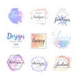 fashion luxury boutique logo design set colorful vector image vector image