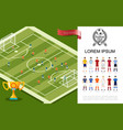 flat soccer colorful concept vector image vector image