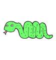 Funny comic cartoon snake