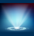 futuristic projector or hologram vector image vector image