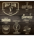 Golf badges logos and labels for any use vector image vector image