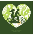 green and golden garden silhouettes couple on vector image vector image