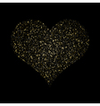 Heart Gold Texture glittering stars dust trail vector image