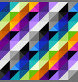 hounds-tooth pattern in abstract low poly vector image vector image